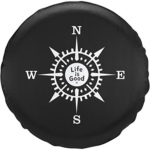 Life is Good Unisex Tire Cover Compass lig, Night Black, 29