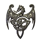 Cheap Dragon, Metal Wall Mounted Art, Mythical, Celtic, and Gothic Sculpture 14″ x 17″