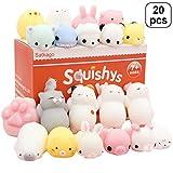 Toys : Satkago Mochi Squishys Toys, 20 Pcs Mini Squishys Mochi Animals Stress Toys Panda Squishys Kawaii Squishys Cat Stress Reliever Anxiety Toys