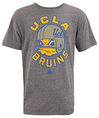 adidas UCLA Bruins NCAA Mens Football Helmet Mascot Triblend Short Sleeve T-Shirt, Heathered Grey (X-Large)