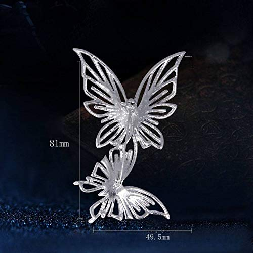 Double Butterfly Brooch Wedding Jewelry Austrian Crystal Brooches Scarf Pin Gift