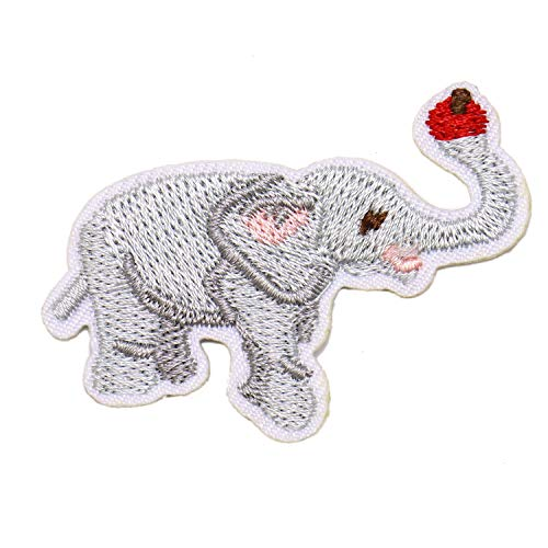 JETEHO 10 Pack Elephant Embroidery Patch for Clothes Animal Ironing on Stickers Embroidered Sewing Applique DIY Art Crafts