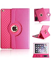 iPad Pro 10.5 Case 2017, elecfan with Card Slot Cover Smart Stand Feature Cover 360 Degrees Rotating Case for iPad 7th Generation 10.2 2019/iPad Air 3 10.5 Inch 2019 /iPad Pro 10.5 2017,Rose Red