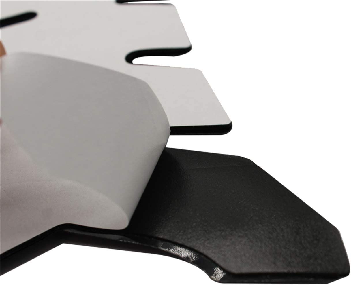 TAKPART Motorcycle Fuel Tank Pads 3D Rubber Tank Protector Gas Oil Fuel Decal and Gel Sticker ATV Vehicles Gray