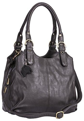 Dunkel Big mano S105 Shop Borsa Plain Handbag donna a Grau xTqSTYfw