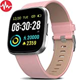 MorePro Smart Watch IP68 Waterproof Activity Tacker with Heart Rate Blood Pressure Monitor, Sleep Tracking Fitness Watch with Android & iOS Calorie Step Counter Touch Screen Pedometer for Women Men