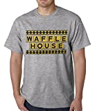 Official Waffle House Funny Vintage MENS T-SHIRT, Heather Grey, Medium