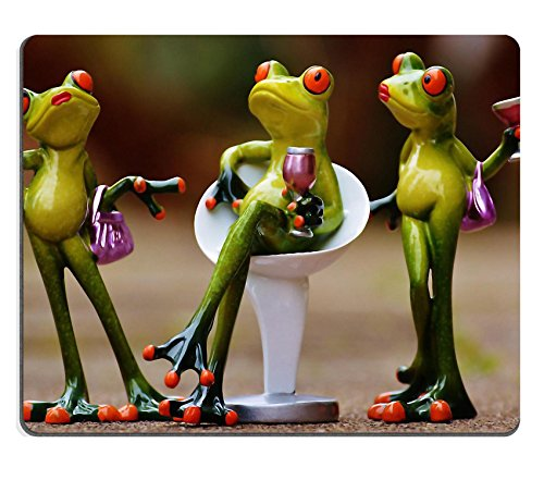 MSD Mousepad Party Celebrate Drink Funny Natural Rubber Material Image 1234566 - Arrogant Frog