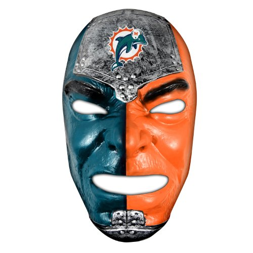 Franklin Sports NFL Miami Dolphins Team Fan Face Mask -
