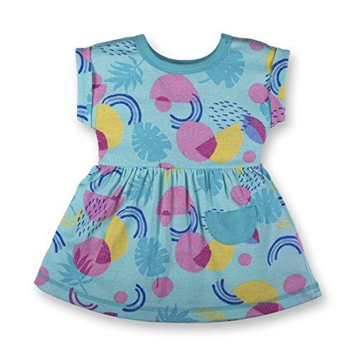 LAMAZE Organic Baby Girls Organic Baby Dresses, Teal, 6M -