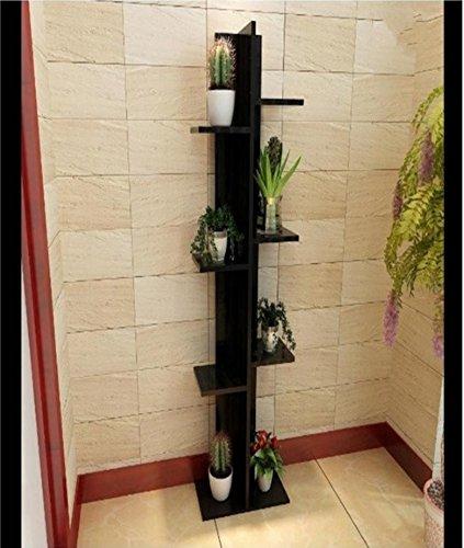 Simple flower rack multi - layer creative flower rack ( Color : Black ) by Flower racks - xin