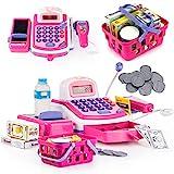 Prextex Pretend Play Electronic Toy Cash Register