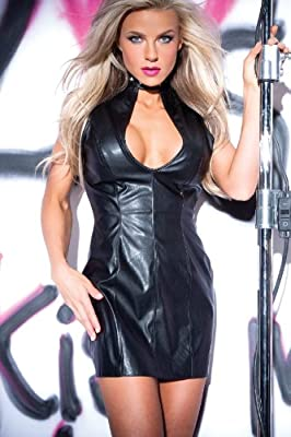 Allure Lingerie 17-1402 Faux Leather Studded Dress