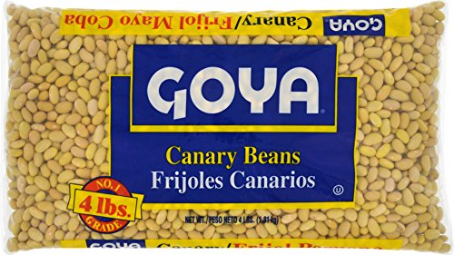 Goya Food Dry Canary Beans, 4 Pound (pack of 6) by Goya