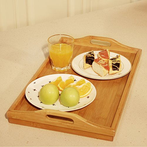 Bed Tray Table with Folding Legs,Serving Breakfast in Bed or Use As a TV Table, Laptop Computer Tray, Snack Tray with Moso Natural Bamboo by Artmeer by Artmeer (Image #9)