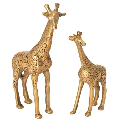 Brass Giraffe - Pure Brass Metal Giraffe Pair in Fine Unique Stunning and Decorative Art by Bharat Haat BH05750