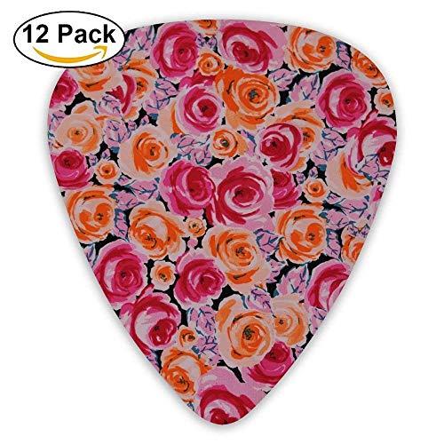 Pink and Orange Roses.JPG Classic Guitar Picks (12 Pack) Gifts for Men Women Teens Kids