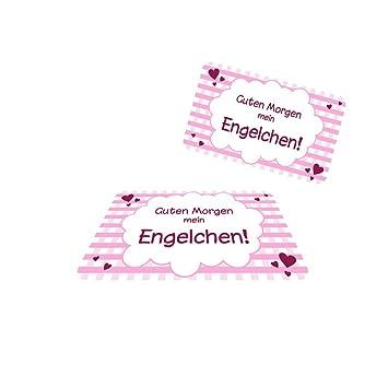 4 X Frühstücksbrettchenpink Karo Engelchen Rosa