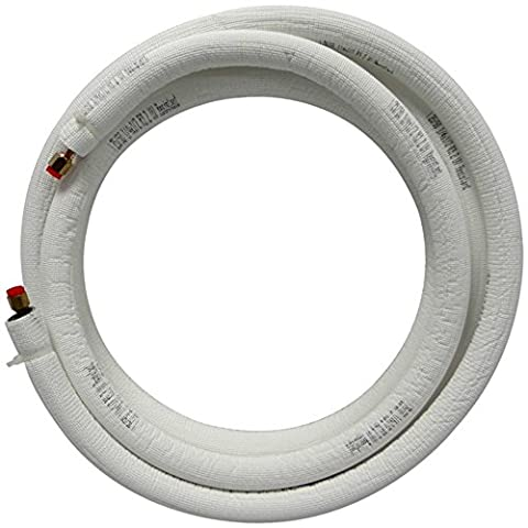 JMF LS3858FF15W-WHITE - 15' EZ-Pull Mini Split Ready Connect Line Set: 3/8