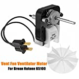 MAYITOP Universal Bathroom Vent Fan Replacement Electric Ventilator Motor 50cfm for Broan Nutone 65100 SM550 C65878 VFM100