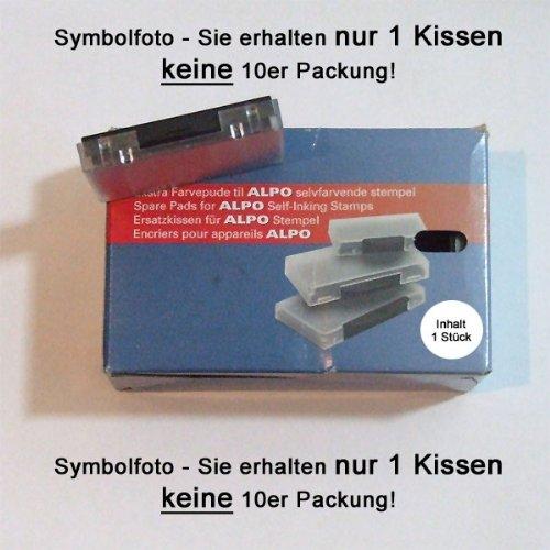 Alpo Stempelkissen Alpo50 Ersatzkissen SCHWARZ