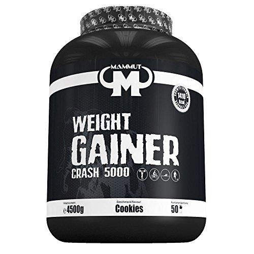 Mammut Weight Gainer Crash 5000 Cookies Kohlenhydrate Masseaufbau Kreatin, 1er Pack (1 x 4.5 kg)