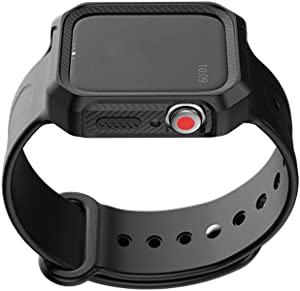 Compatible for Apple Watch Band 42mm 44mm with Rugged Protective Drop Shock Resistant Case Fit for iWatch Series 5/4/3/2/1
