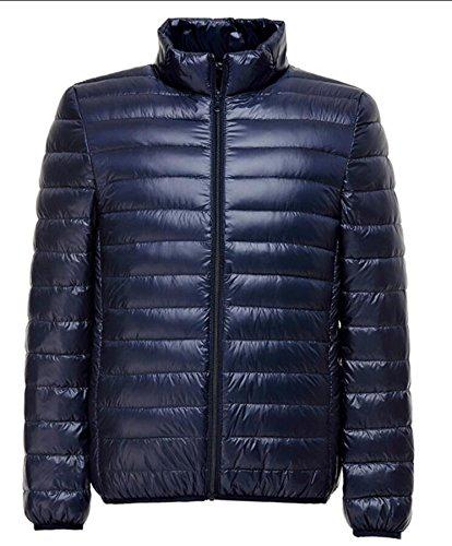 Puffer Collor Outwear Leggero amp; M Basamento W Blu Inverno Packable Marina Giù Spessore Cappotto Uomini amp; S WOO7vq4R