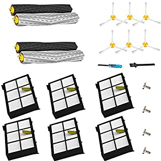 YOKYON Replacement Parts Kit for Iobot Roomba 800 and 900 Series 805 860 870 871 880 890 960 980 Vacuum Cleaner Accessories Including Debris Extractor Set,Side Brush and Hepa Filters