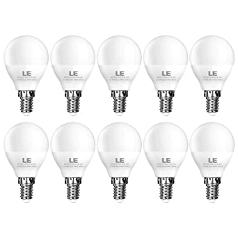 LE Bombilla LED, E14 P45, 3W Equivalente a Incandescente de 25W, Halogeno Blánco