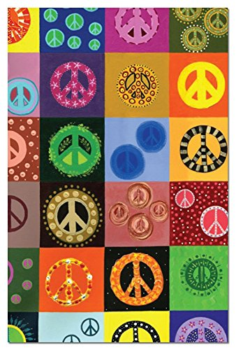 Peace is Everywhere Blank Boxed Note Cards with Envelopes, All Occasion (12 Count) - Cute Peace Sign Stationery Notecards, FS66592 Tree-Free Greetings (Peace Note)