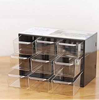 Chris Wang Removeable Mini Acrylic 9 Drawer Desktop Storage  Organizer/Collection Caddy/Small