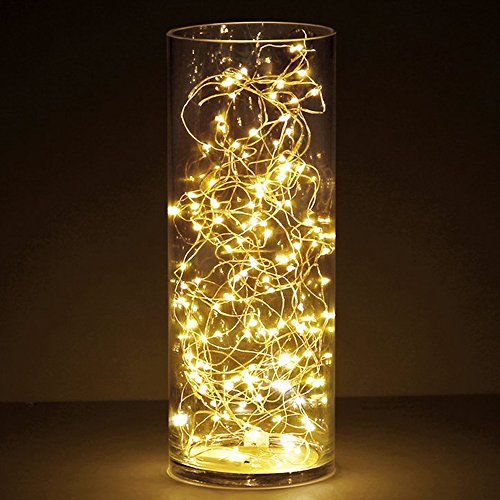 [6-PACK] Timer Fairy Lights 3 Modes Twinkle Lights with 20 LED Starry String Lights on 6.5ft Silver Wire,Fairy Lights Battery Powered by 2xCR2032 for Party,Wedding,Christmas Tabel Decor,Warm White by OakHaomie (Image #1)