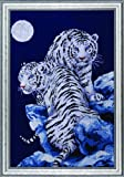 Design Works Crafts Tobin SNT-IC2R-10 Moonlit Tigers Counted Cross Stitch Kit-16''X23'' 14 Count