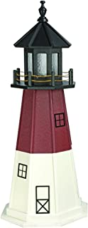 product image for DutchCrafters Decorative Lighthouse - Wood, Barnegat Style (Cherrywood, White, Black, 5)