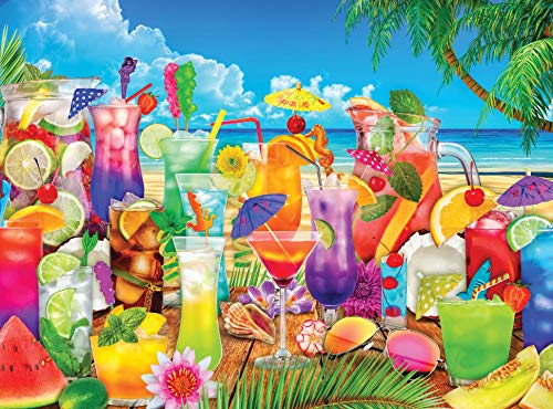 1000 Piece Puzzle for Adults – Summer Beach Drinks Jigsaw Puzzle