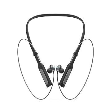 WLG Auriculares Bluetooth Colgantes para Deportes de Cuello, conexión de 50 Metros, Auriculares magnéticos