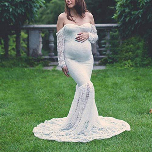 Abiti Maxi Unique Fotografia In Bobo Abito Stlie Estivo Matrimonio 88 Bianca Fotografico Maternità Premaman Servizio Pizzo Gravidanza Lunga R0q0YPt
