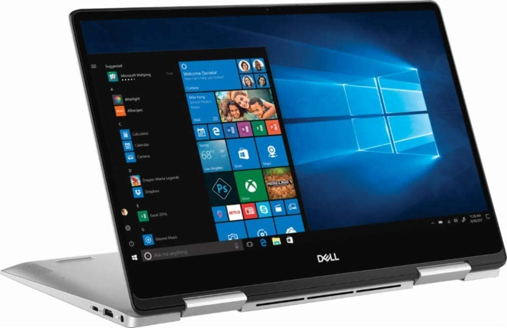 "2019 Dell Inspiron 7000 13.3"" FHD Touchscreen 2-in-1 Laptop, Intel Quad Core i5-8265U Upto 3.9GHz, 8GB DDR4 RAM, 256GB SSD, Backlit Keyboard, Fingerprint Reader, USB-C, HDMI, Windows 10"