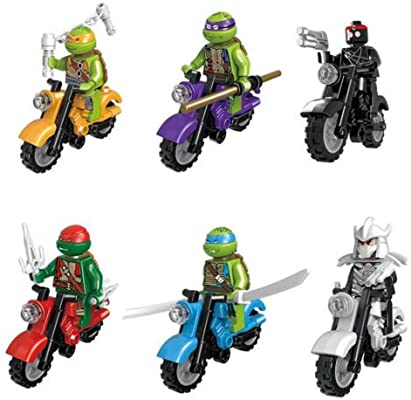 TMNT - Juego de 6 Minifiguras de Motocicleta Allstar con ...