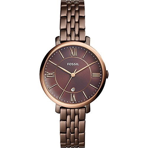 Fossil-Jacqueline-Three-Hand-Date-Brown-Stainless-Steel-Watch