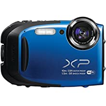 Fujifilm FinePix XP 75/XP70 16.4MP Waterproof Digital Camera with 5X Optical Zoom and 2.7-inch LCD (Blue)