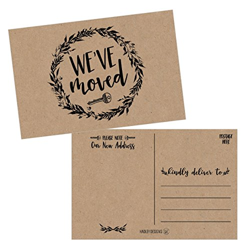 Set of 50 Rustic Kraft We