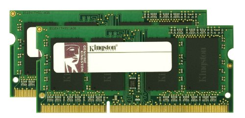 Kingston Apple 4 GB Kit (2x2GB Modules) 1066MHz DDR3 SODIMM (KTA-MB1066K2/4GR) (4gb Kit Two 2gb Modules)