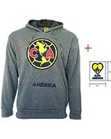 Club America hoodie Hooded Sweatshirt Jacket Grey Adults Official licensed New Season + Sticker