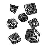 Q WORKSHOP Metal Steampunk Dice Set 7 Polyhedral