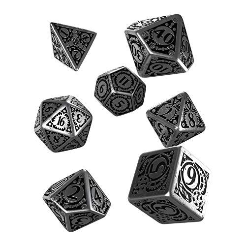 Q WORKSHOP Metal Steampunk Dice Set 7 Polyhedral -