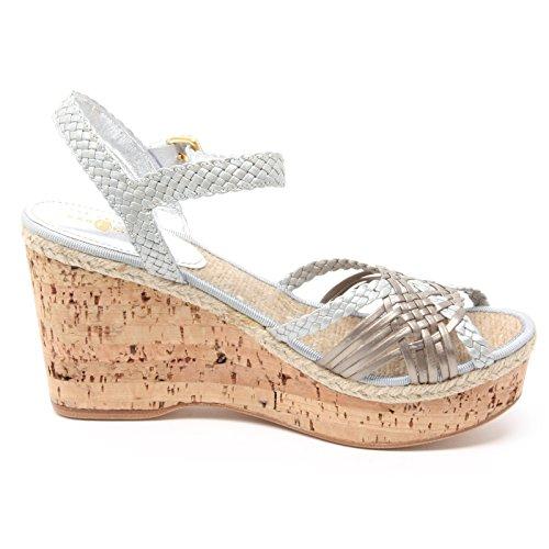 Donna marrone Shoe Scarpa Sandalo Zeppa Argento B3902 Sandal Woman Car pxTt0qw7x