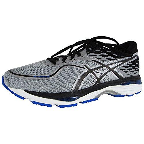 Asics Mens Gel Cumulus 19 Running Shoes  Grey Black Directoire Blue  11 Medium Us