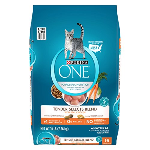 - Purina ONE Tender Selects Blend With Real Chicken Dry Cat Food